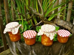 36. Weinbergpfirsich Marmelade mit Holundersirup