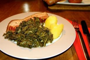 60. Grünkohl mit Kassler, Bündle,Kohlwurst,Fleischpinkel