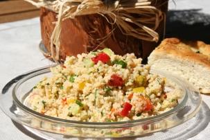 100. Couscous Salat- erfrischend gemüsig