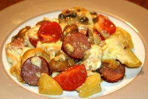 109. Raclette aus der Pfanne