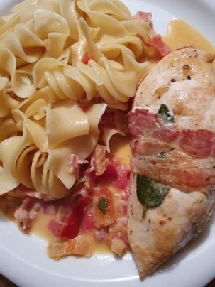 88.Hähnchenbrust mit Salbei und Bacon